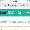 Theme Magento Mobile projeto Óculos Shop – by inovarti.com.br